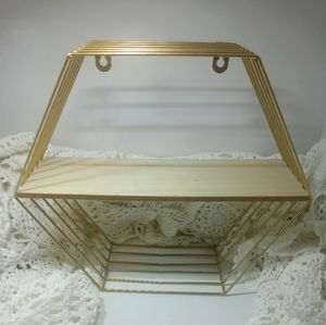 Small Gold Shelf Hexagon Display